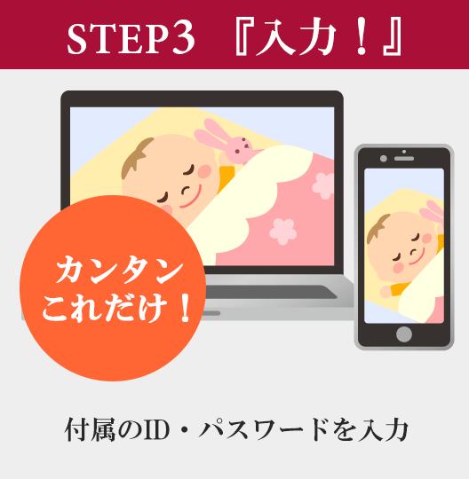 step3「入力!」